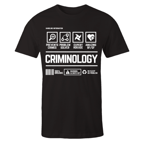 Criminology Handling Black Shirt