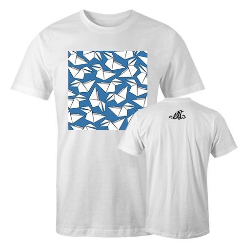 Crow Blue Sublimation Dryfit Shirt With Logo At The Back