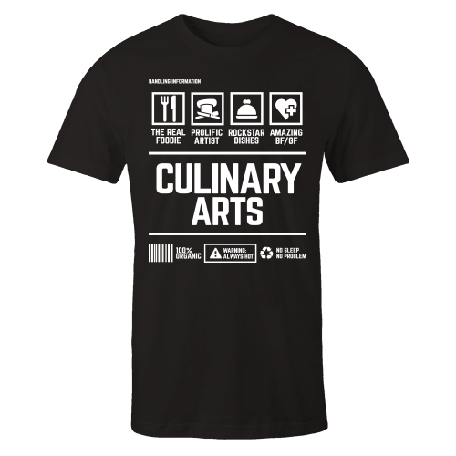 Culinary Arts Handling Black Shirt