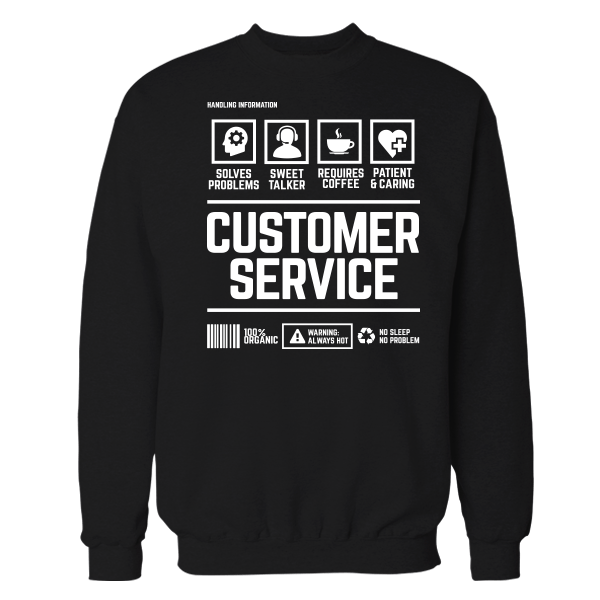 Customer Service Handling Black Shirt