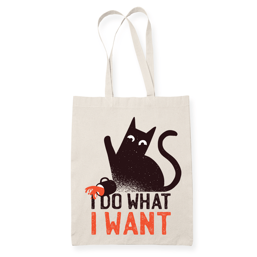 Cat I do what I want Sublimation Canvass Tote Bag