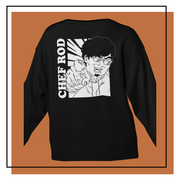 Chef Rod Black Cotton Sweatshirt w/Back Print