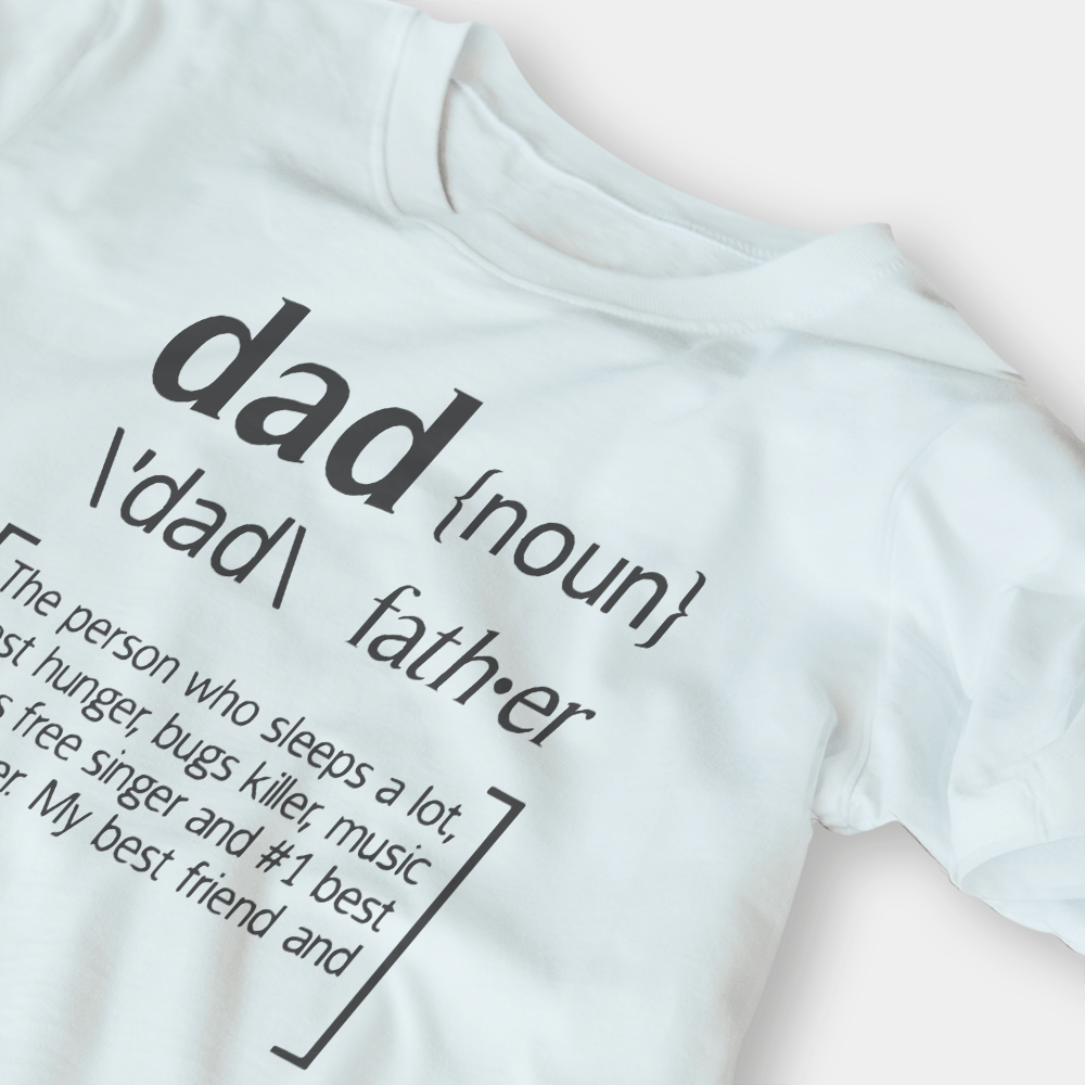 Dad Noun G5 White Shirt