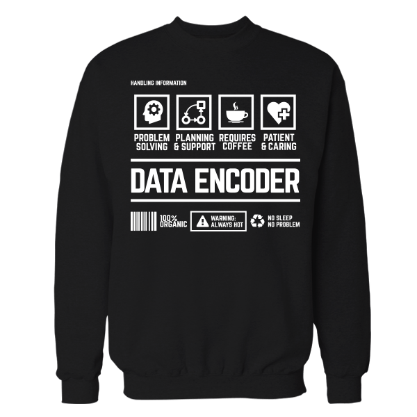 Data Encoder Handling Black Shirt