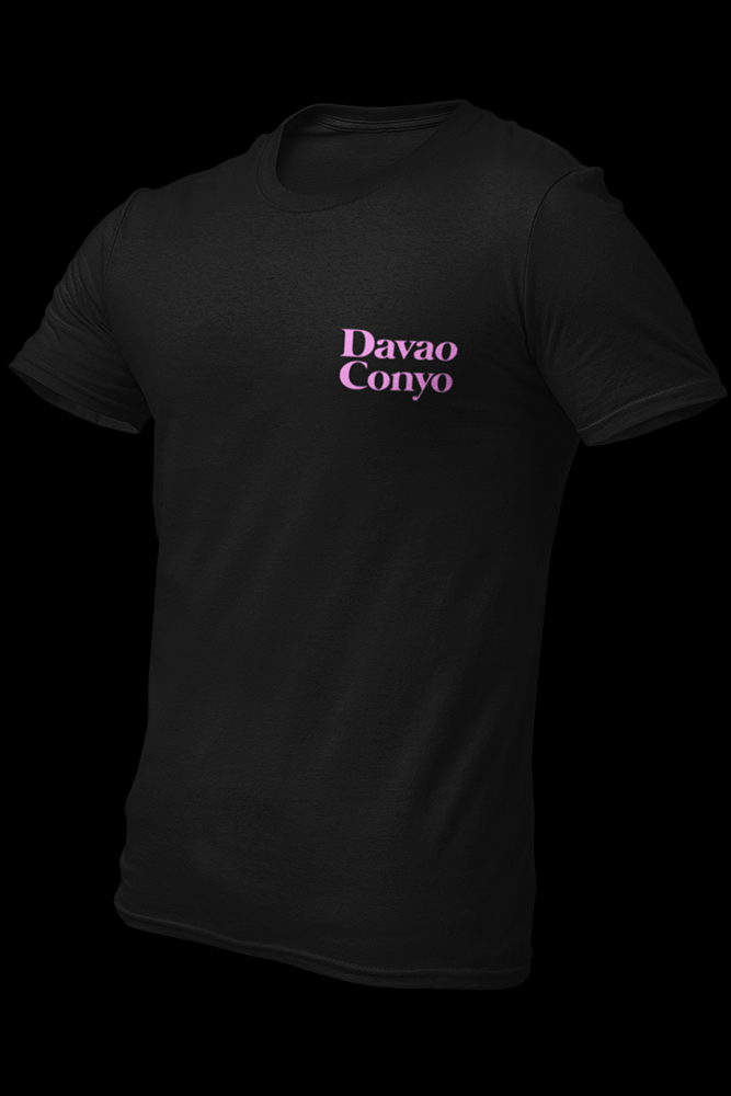 Davao Conyo Black Light Pink Print Embroidered Cotton Shirt