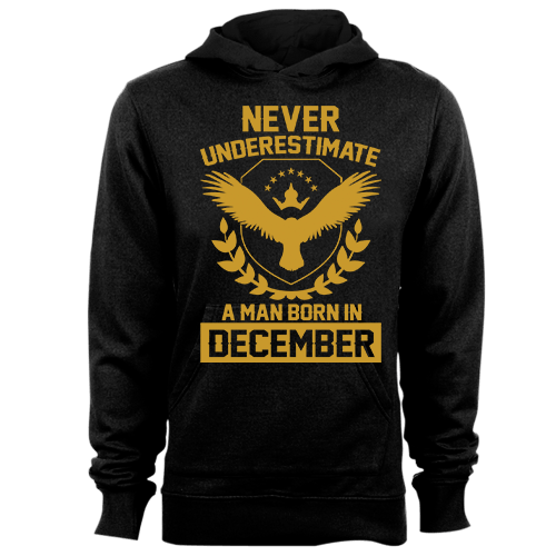 Never Underestimate A Man Born In December Cotton Shirt