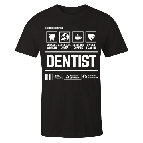 Dentist Handling Black Shirt