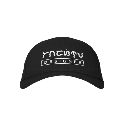 Designer Black Embroidered Cap