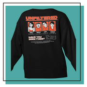 Unfiltered D&O Black Cotton Sweatshirt w/Back Print