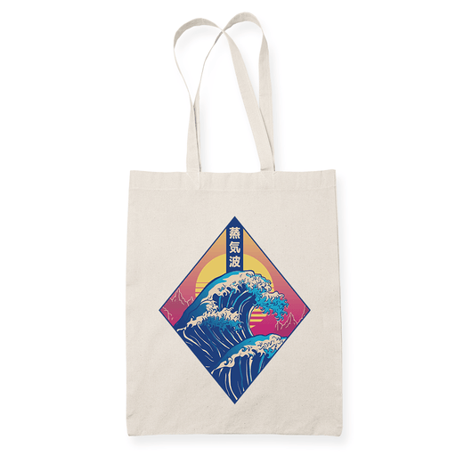 Diamond Wave Sublimation Canvass Tote Bag