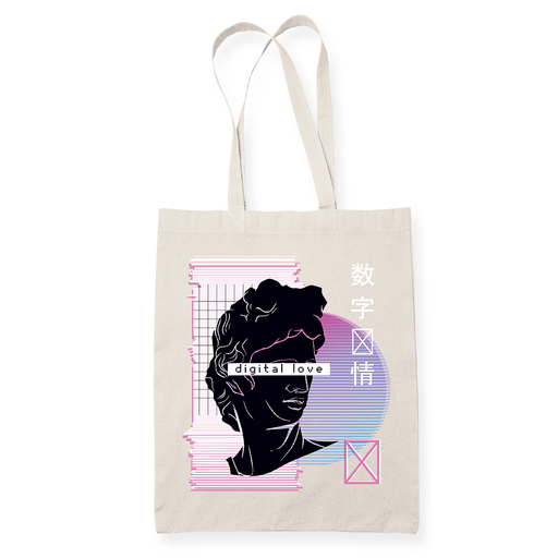 Digital Love Wave Sublimation Canvass Tote Bag
