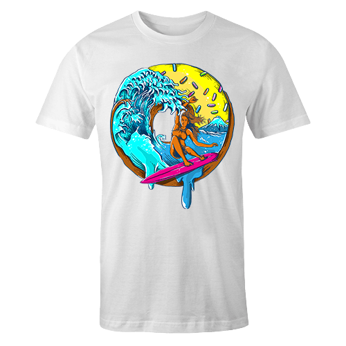 Donut Surfing Sublimation Dryfit Shirt