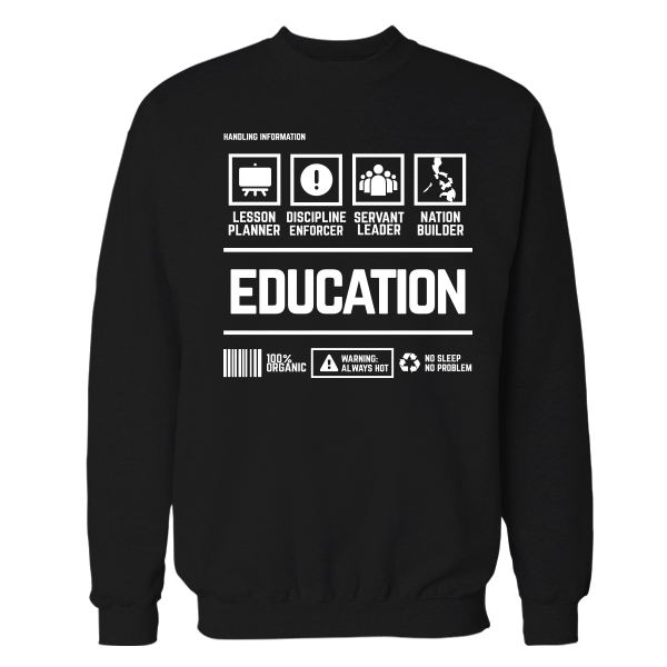 Education Handling Black Shirt