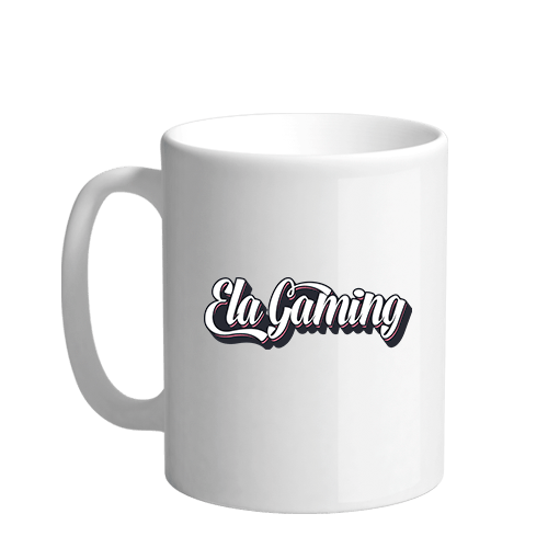 Ela Gaming Text Sublimation White Mug