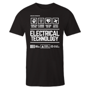 Electrical Tech Handling Black Shirt