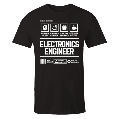 Electronics Engineer Handling Black Shirt