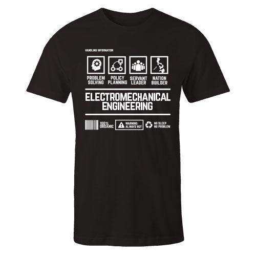 Electromechanical Engineering Handling Black Cotton Shirt