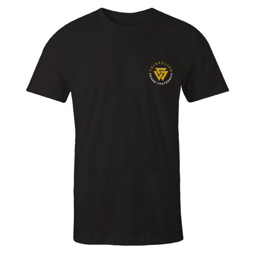 Triskelion Grand Embroidery Black Cotton Shirt