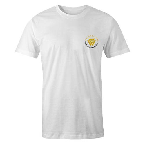 Triskelion Grand Embroidery White Cotton Shirt