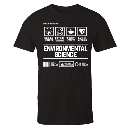 Environmental Science Handling Black Cotton Shirt