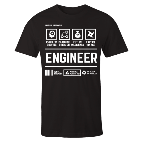 Engineer Handling Black Shirt