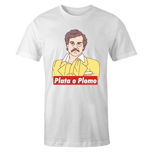 Escobar Plata o Plomo Sublimation Dryfit Shirt