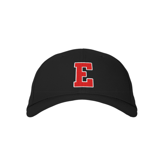 Letter E Black Embroidered Cap