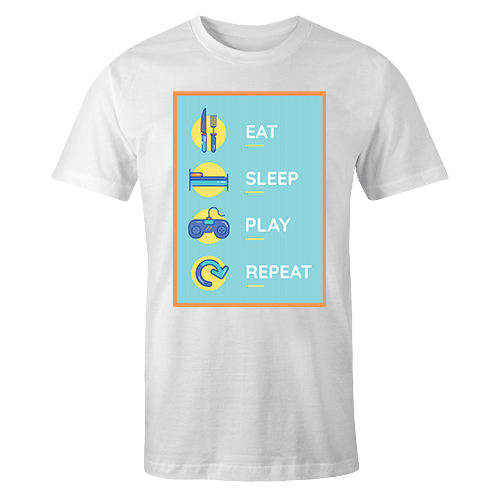 Eat Sleep Pray Repeat Sublimation Dryfit Shirt