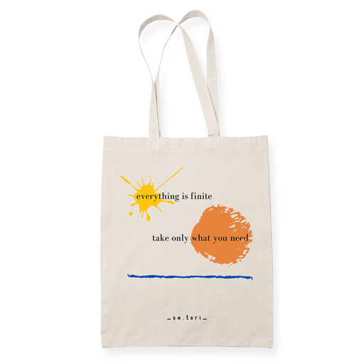 Everything is Finite  Sublimation Canvass Tote Bag