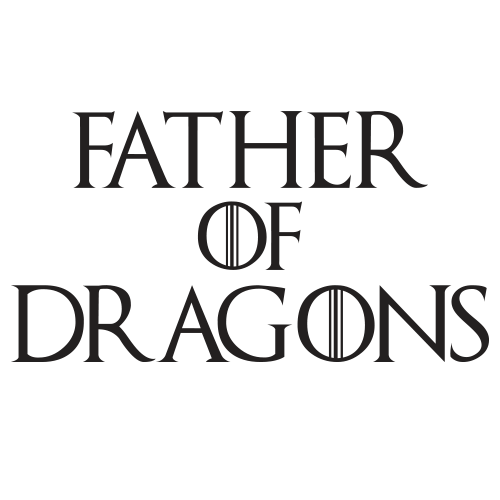 Father Of Dragons Black Cotton Shirt