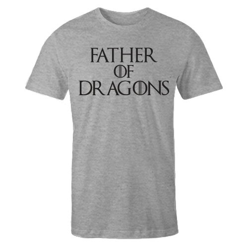 Father Of Dragons Grey Cotton Shirt