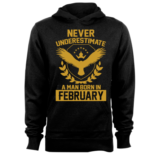 Never Underestimate A Man Born In February Cotton Shirt