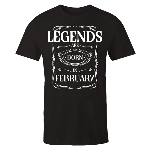 Legends are Born in February v3 Cotton Shirt