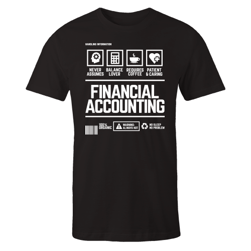 Financial Accounting Handling Black Shirt