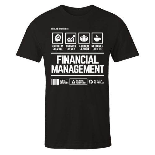 Financial Management Handling Black Cotton Shirt