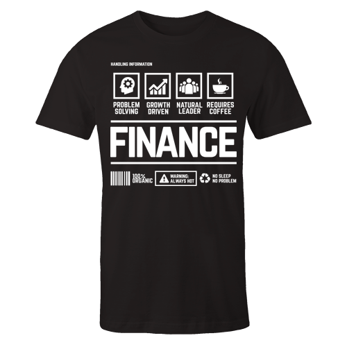 Finance Handling Black Cotton Shirt