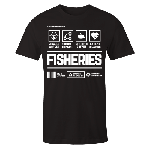 Fisheries Handling Black Shirt
