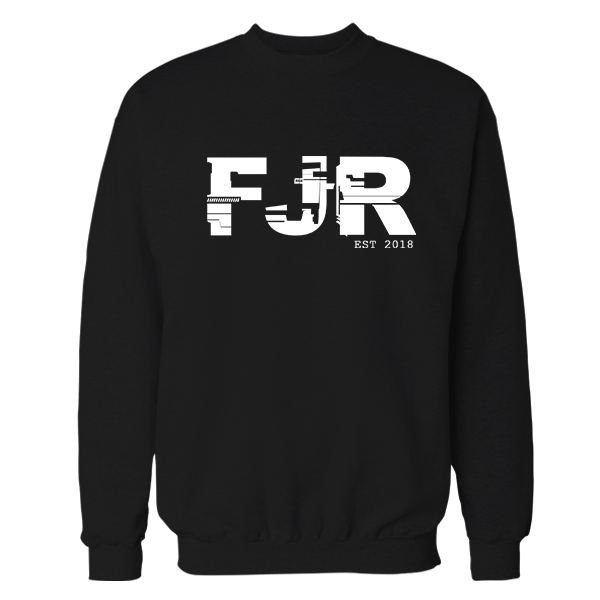 FJR Black Cotton Sweatshirt