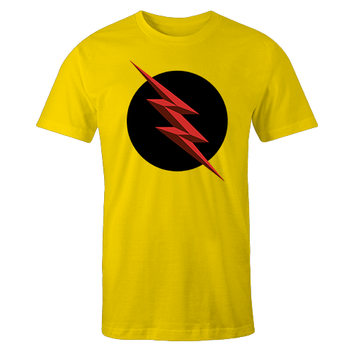 Reverse Flash Yellow Cotton Shirt