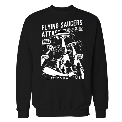 Space Saucer Black Sweatshirt