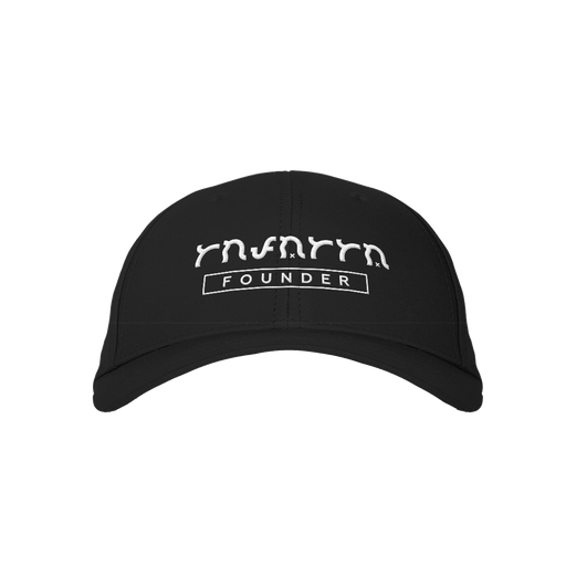 Founder Black Embroidered Cap