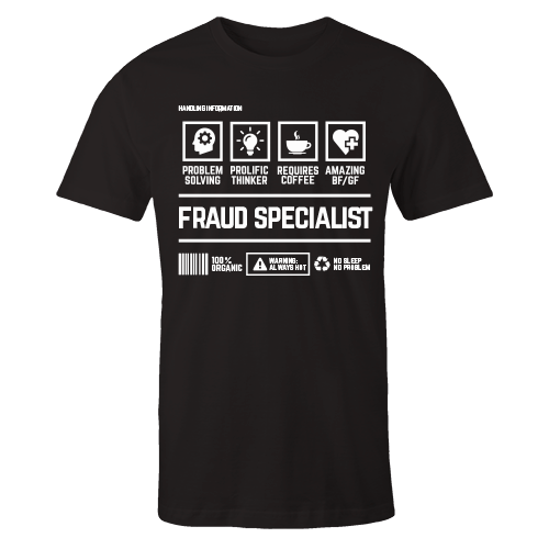 Fraud Specialist Black Cotton Shirt