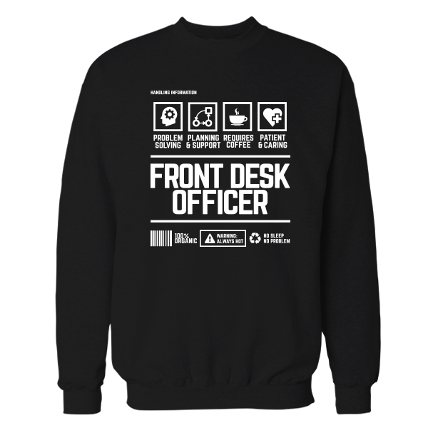 Front Desk Officer Handling Black Shirt