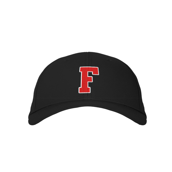 Letter F Black Embroidered Cap