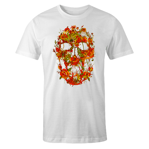 Floral Skull Sublimation Dryfit Shirt