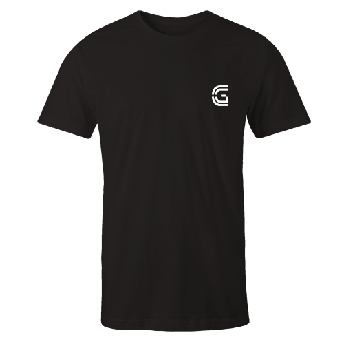 CG Stream Logo Black Cotton Shirt Pocket Size Print