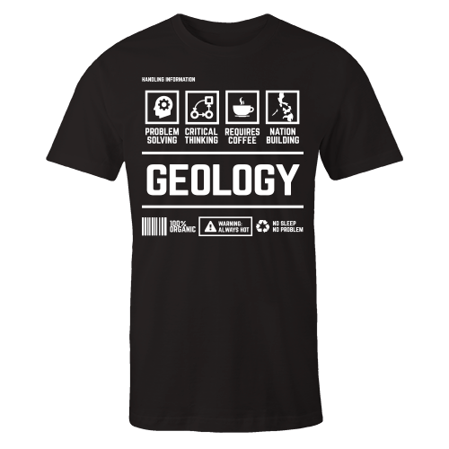 Geology Handling Black Shirt
