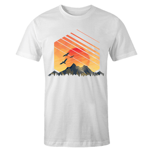 Geometric Sunset Sublimation Dryfit Shirt