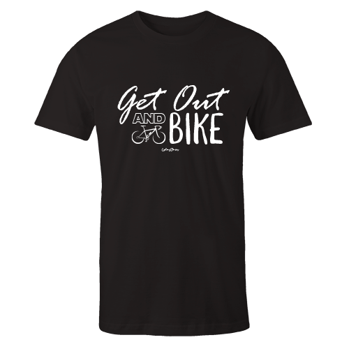 Get out and bike Black Cotton Shirt