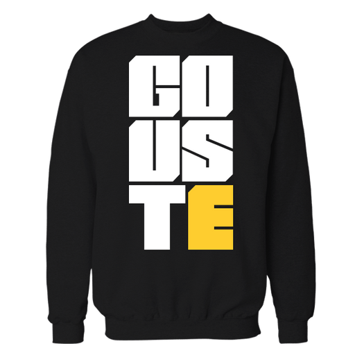 Go uste Black Cotton Sweatshirt
